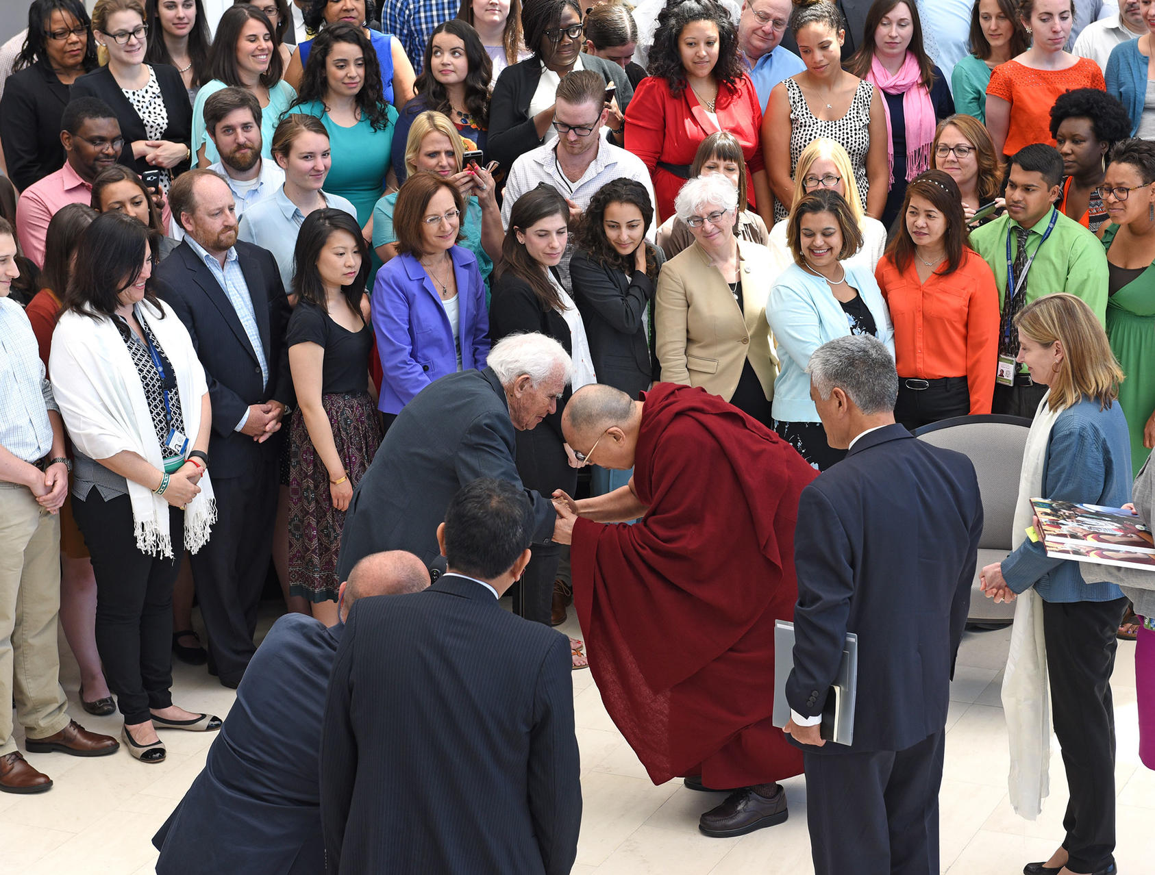 landrum bolling with Hi Holiness the Dalai Lama