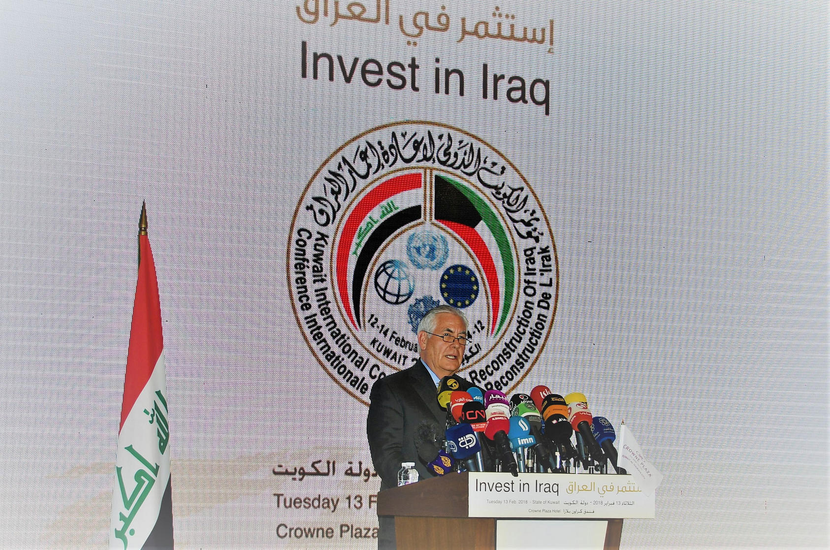 Tillerson Delivers Remarks at Iraq Reconstruction Conference