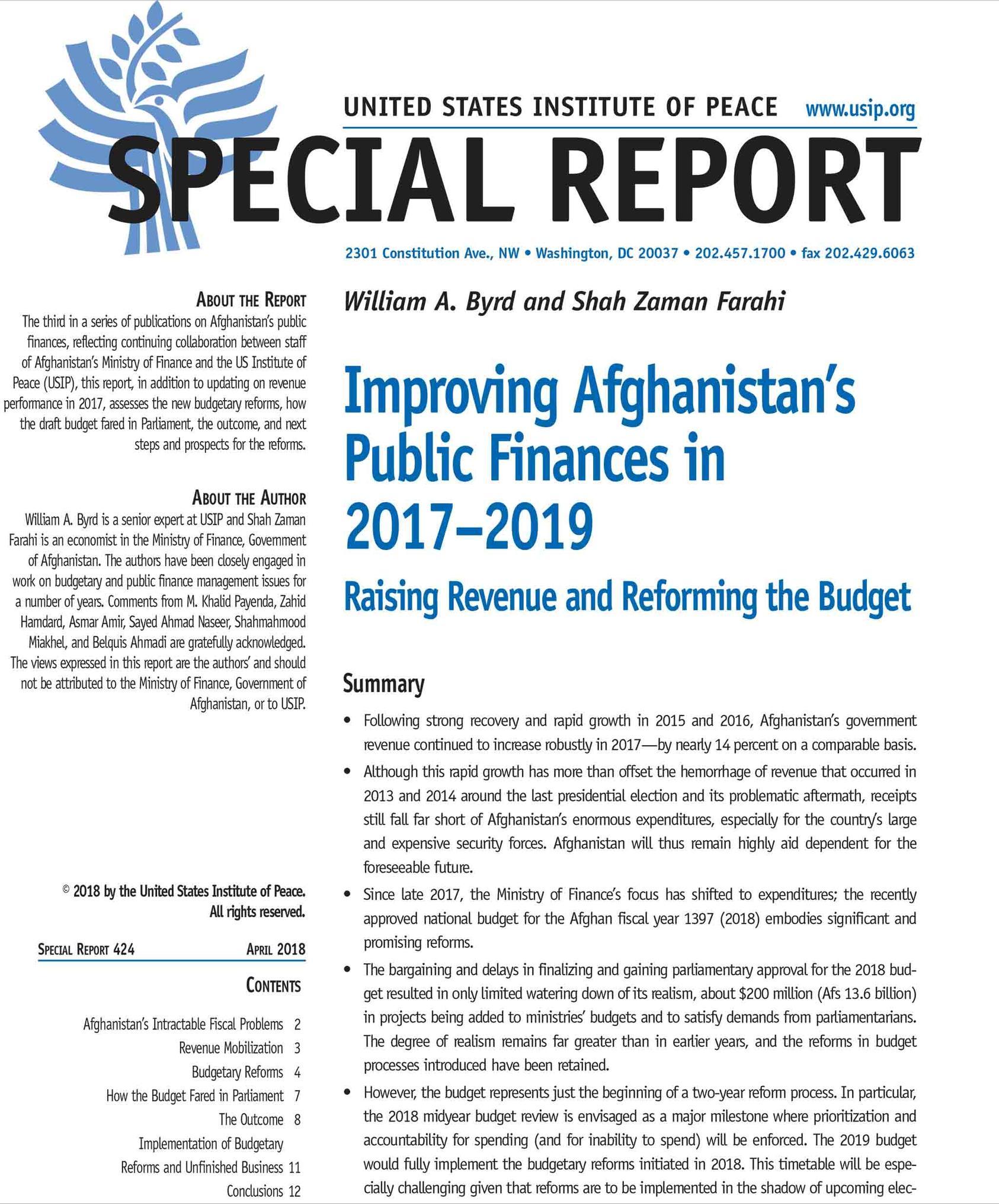 improving afghanistan s public finances in 2017 2019 raising