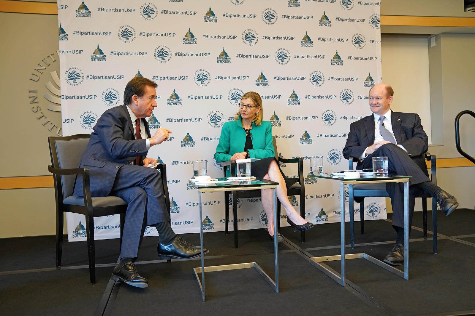 Rep. Ed Royce (R-CA), Nancy Lindborg, Sen. Chris Coons (D-DE)