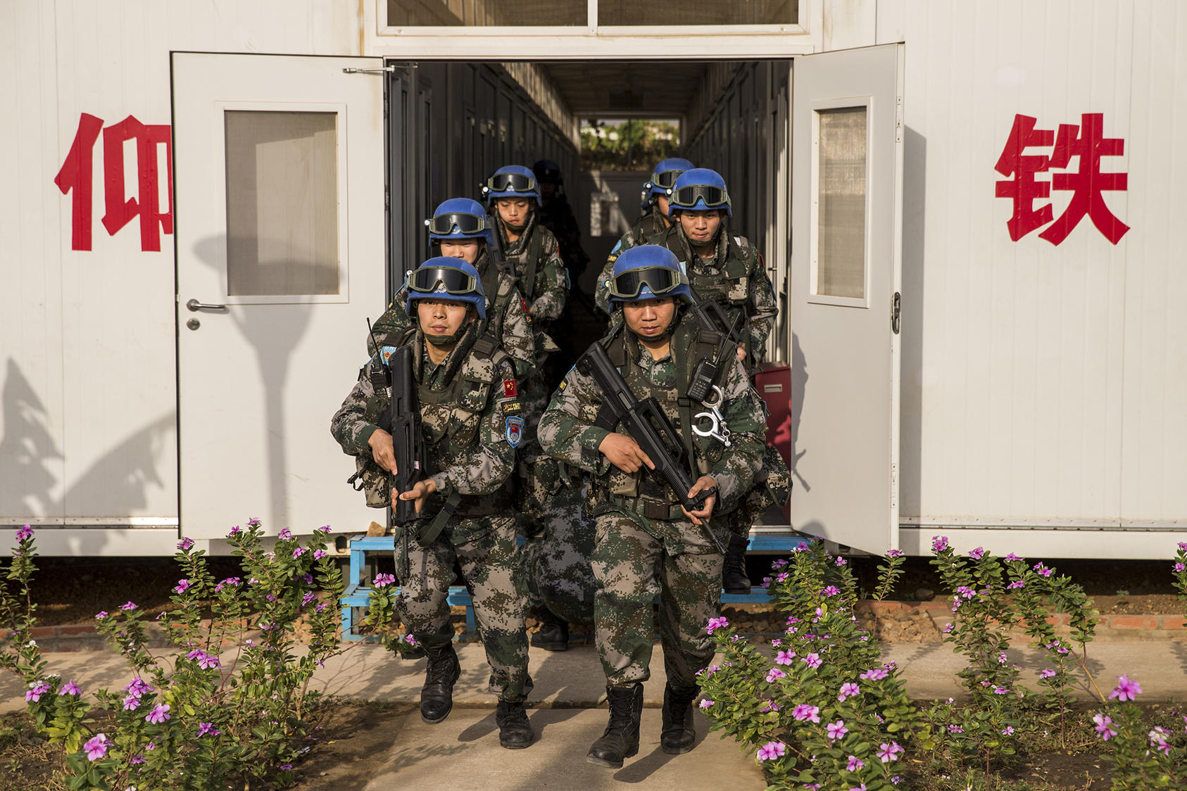 UNMISS Chinese Battalion Patrols Perimeter of UN House and POC Sites in Juba