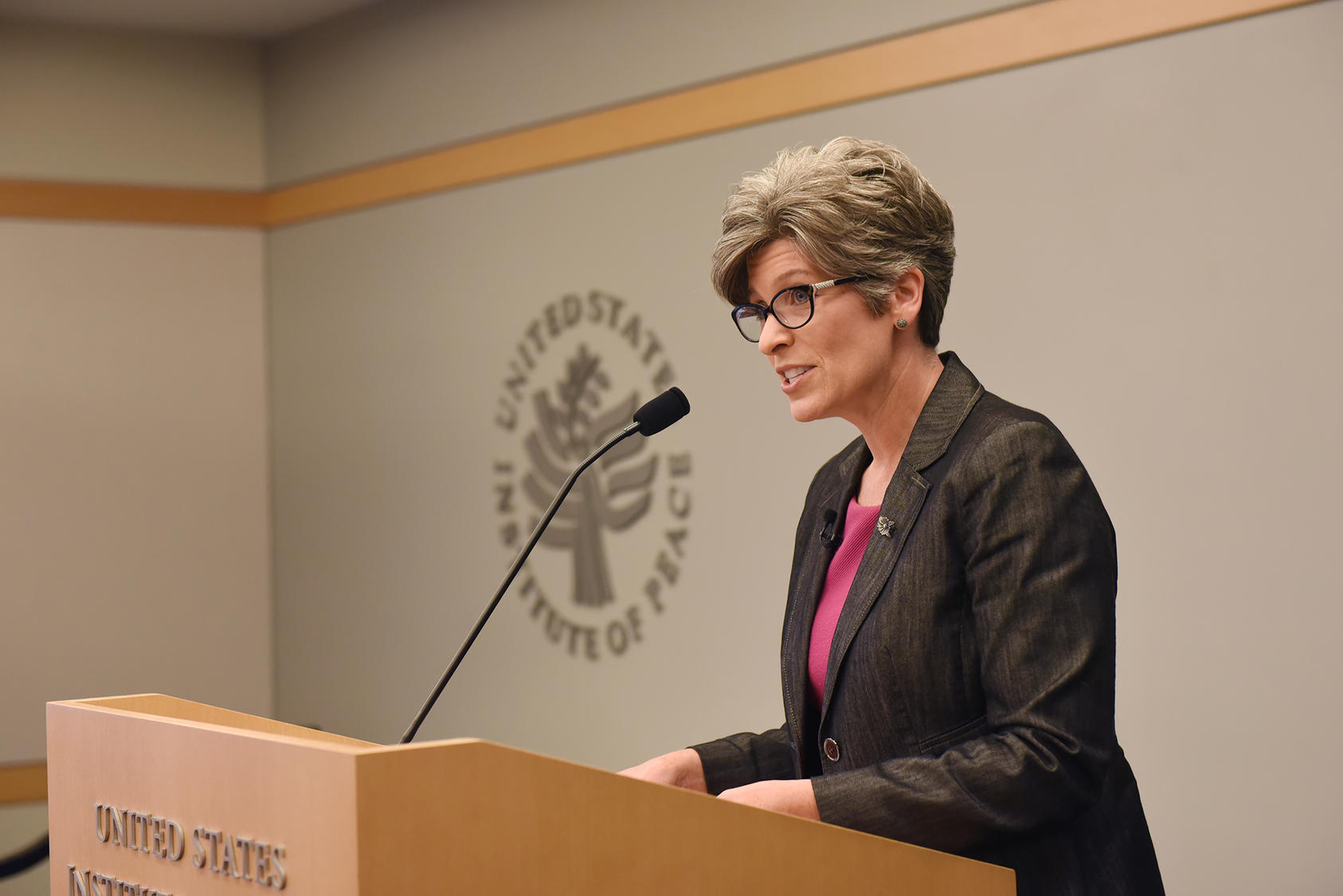 Senator Joni Ernst discusses U.S. policy options in Iraq at the U.S. Institute of Peace on July 26, 2018.