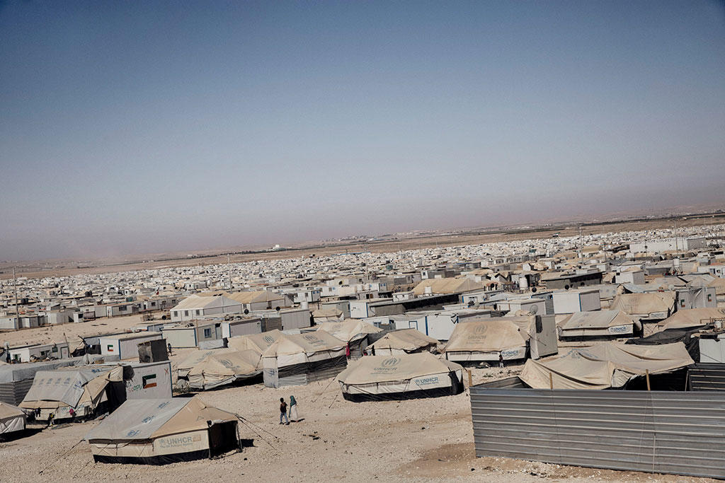 A view of the Zaatari refugee camp in Jordan
