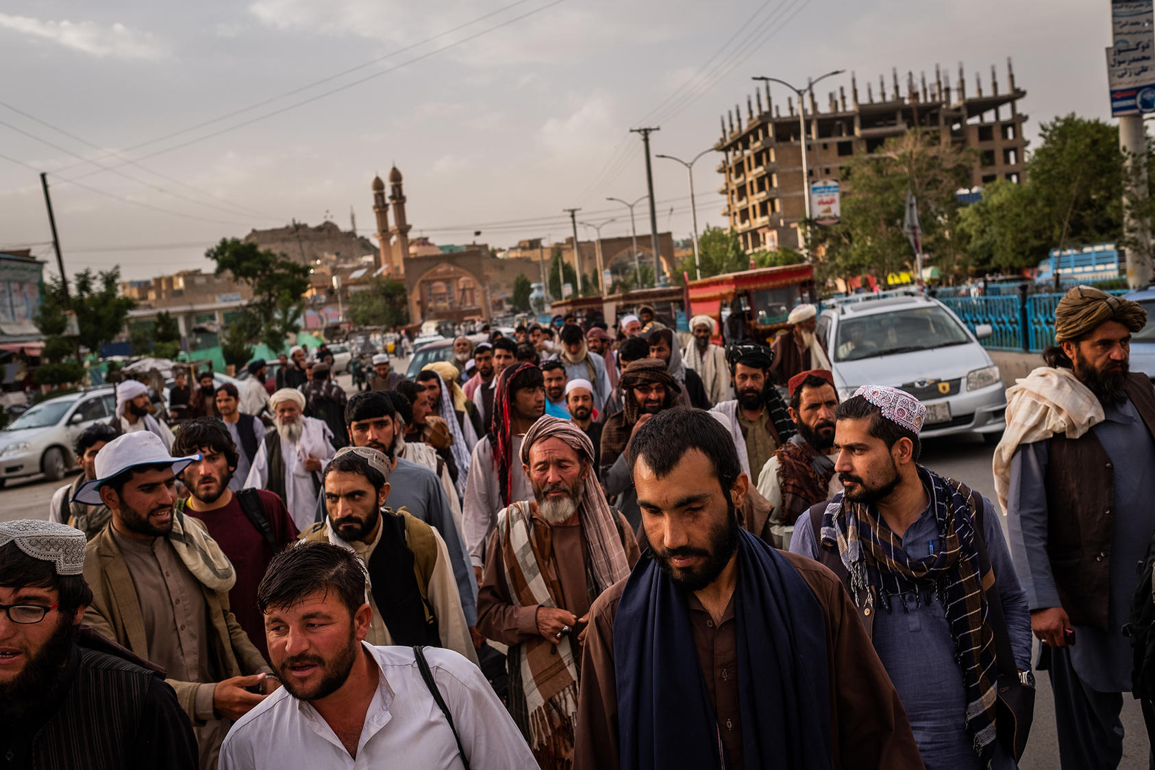 A peace march in Ghazni, June 10, 2018. (Jim Huylebroek/The New York Times)
