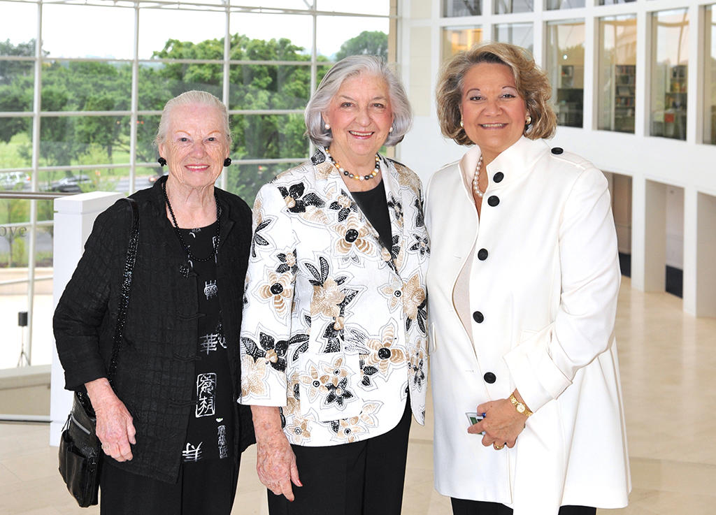 Pictured from left to right, Mary Lou Hughes, Betty Bumpers, Cheri Carter