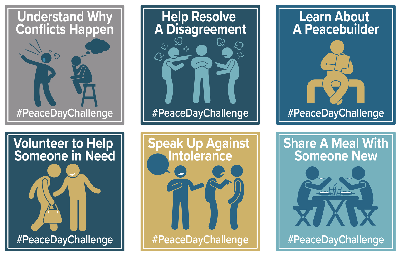 Peace Day Challenge share grahics