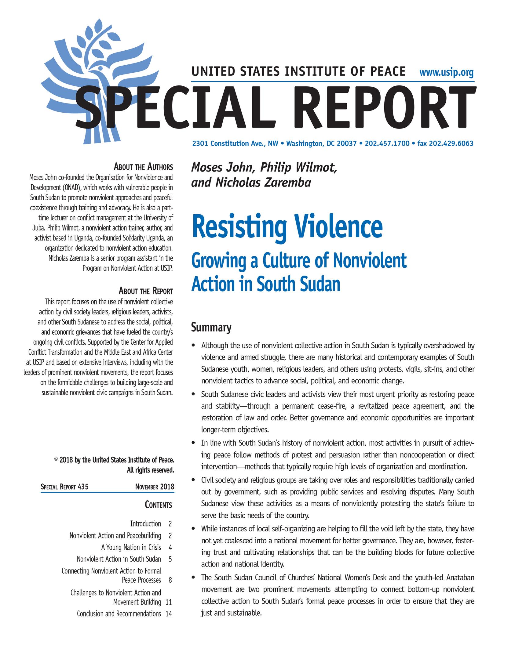 Creating a Nonviolent Culture in a Modern Organization