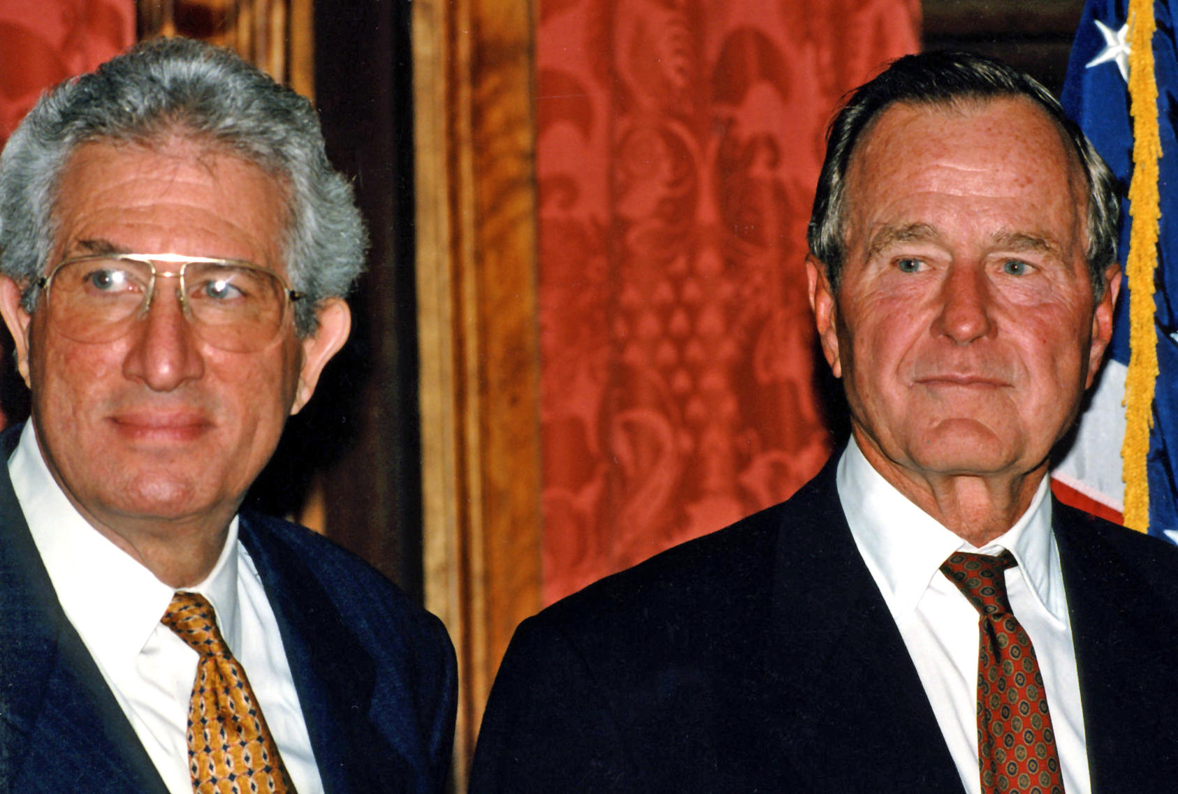 Richard Solomon and Prsident George H.W. Bush