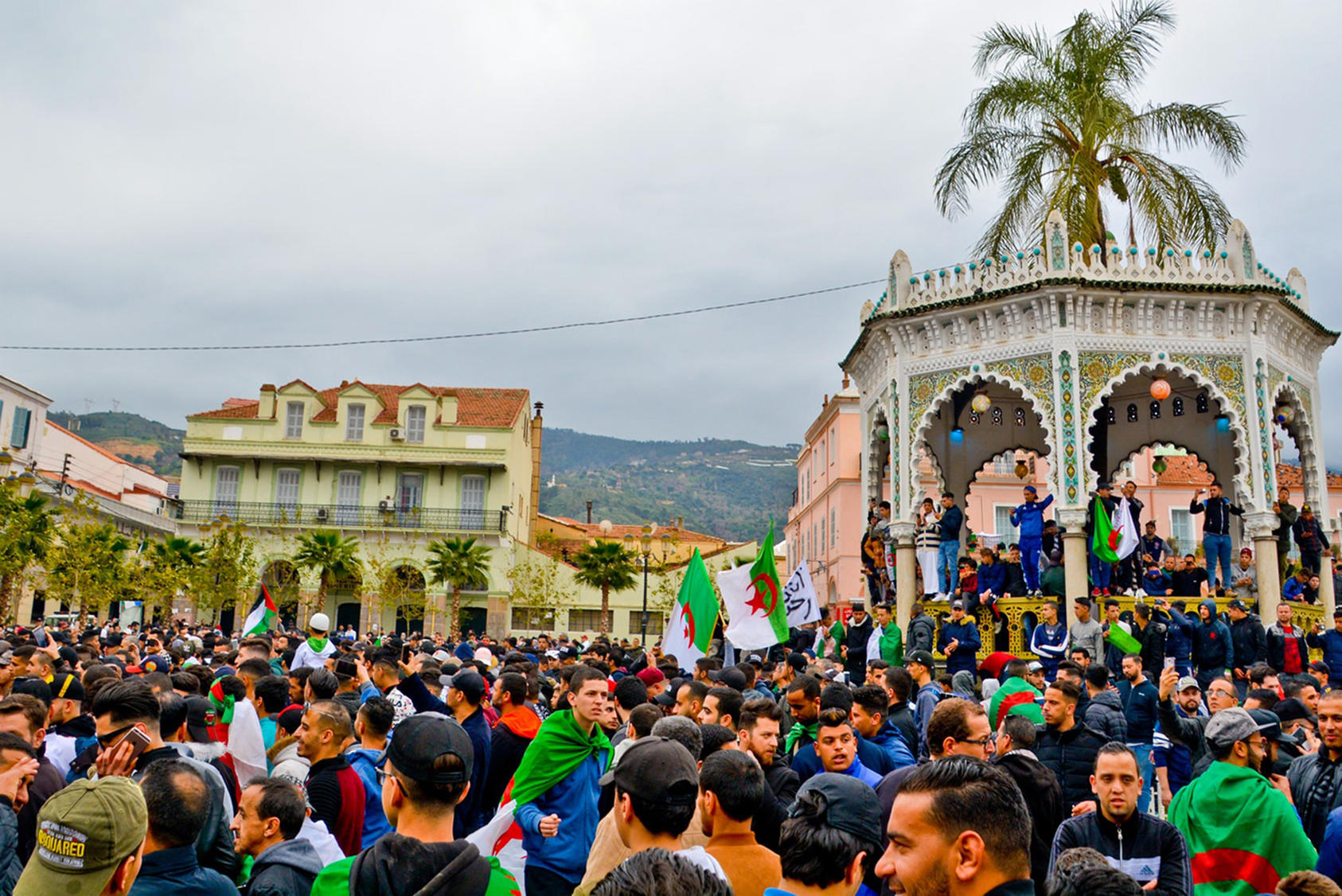 Protesters assemble in opposition to President Bouteflika's fifth term in Blida, Algeria, March 10, 2019. (Fethi Hamlati/Wikimedia)