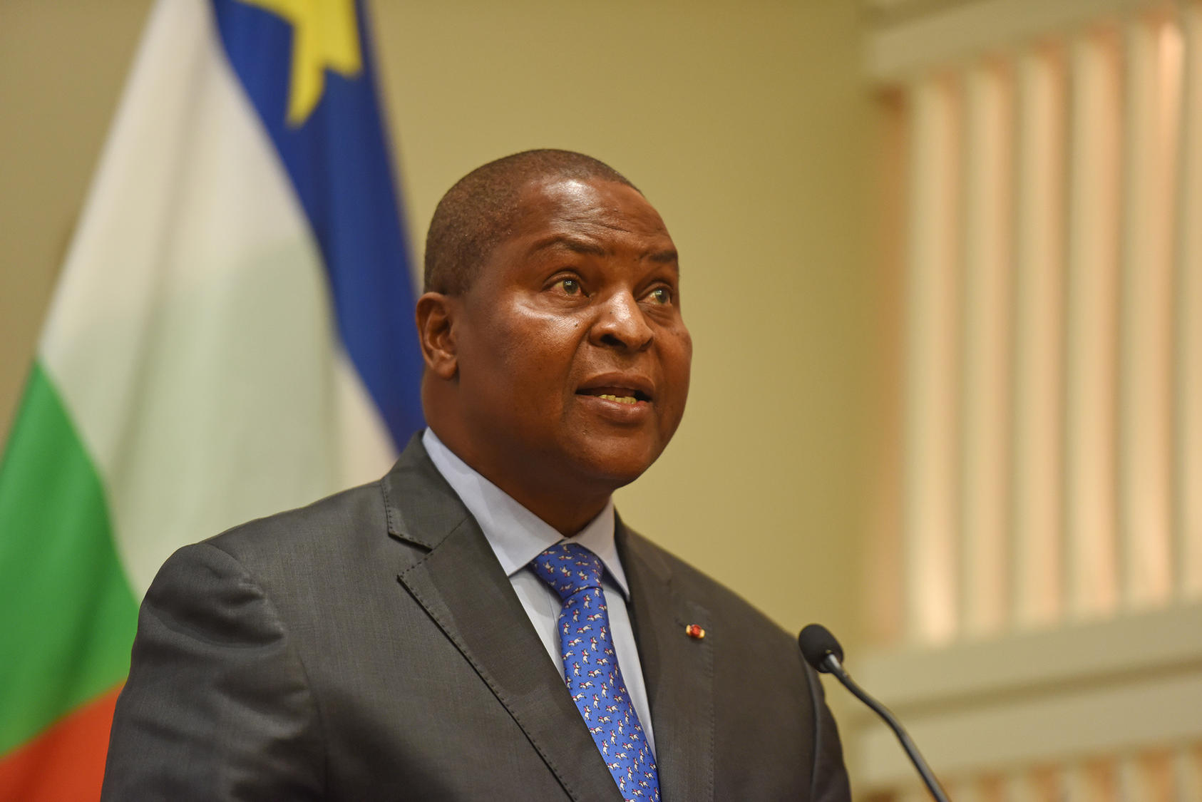 Central African Republic President Faustin-Archange Touadéra at the U.S. Institute of Peace, April 9, 2019.