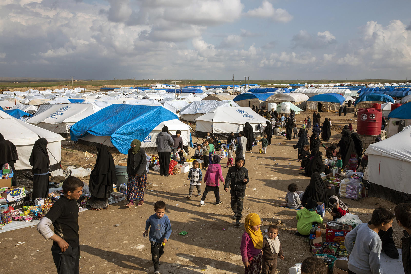 Syria's Al Hol camp holds thousands of people who lived under ISIS' rule. Many, including children and people lured or coerced into ISIS' orbit, are trying to return to homelands abroad. (Ivor Pickett/The New York Times)