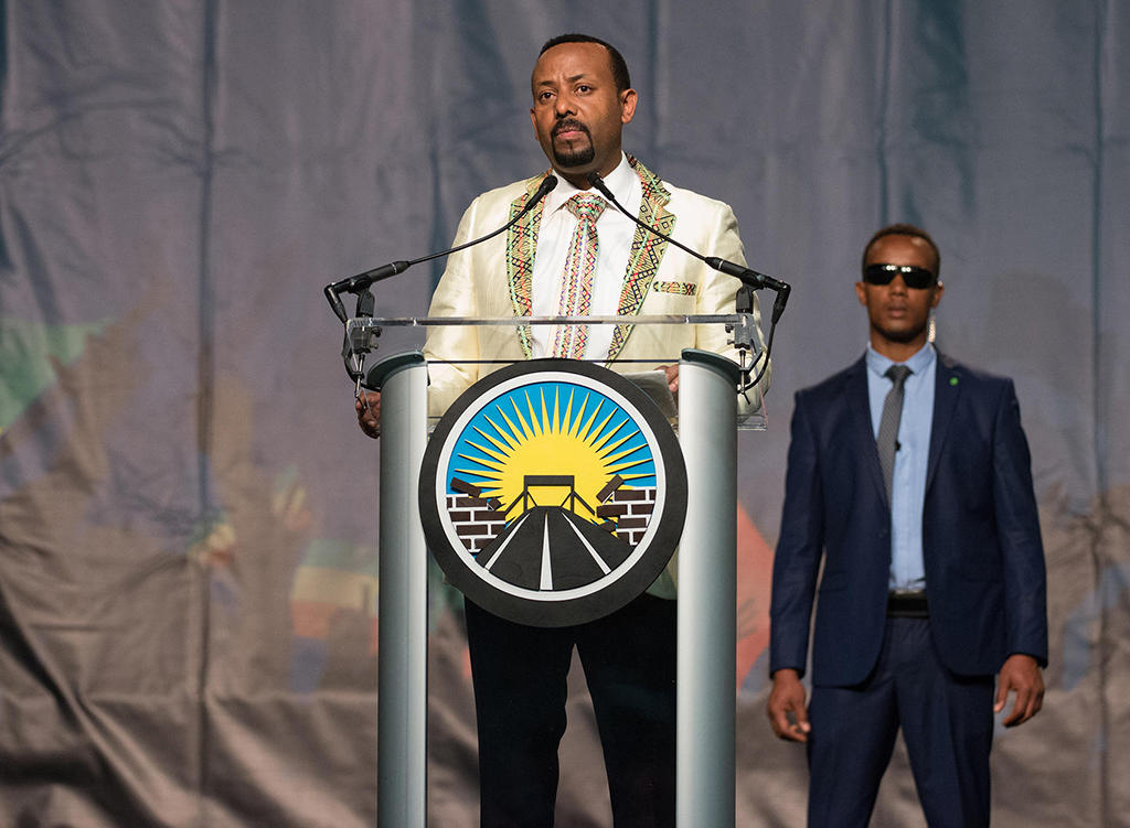 Ethiopian Prime Minister Abiy Ahmed's during his visit to Washington, DC (Office of Mayor Muriel Bowser via Flickr).