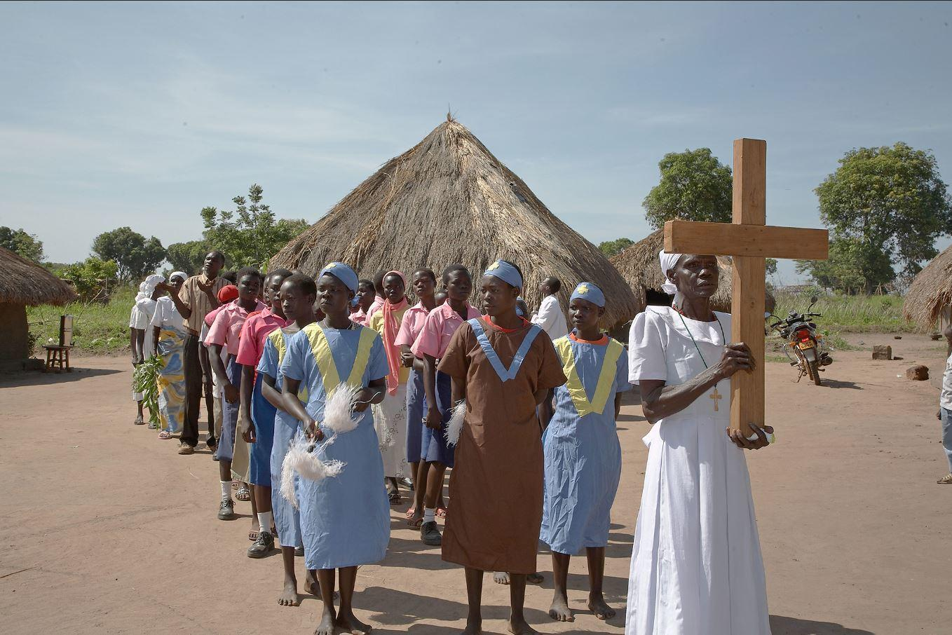Members of the Catholic community in Yei, in southern South Sudan, celebrate the Feast of Saint Joseph. (Photo by Sean Sprague/Alamy Stock)