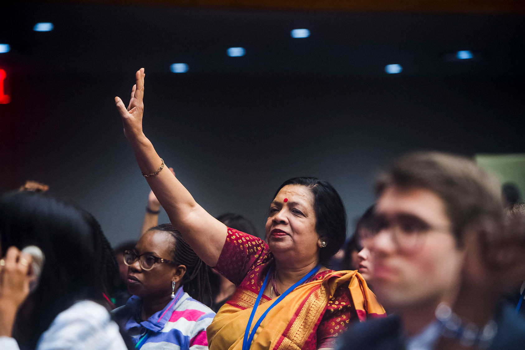 Groups gather for the CSW63 Townhall Meeting of Civil Society and United Nations Secretary-General António Guterres (Flickr/UN Women)