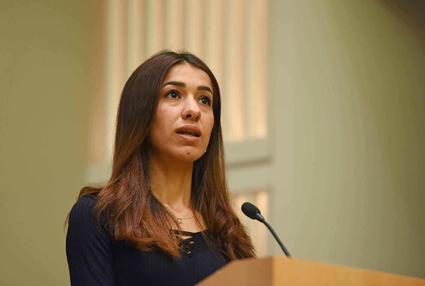 Nobel laureate Nadia Murad at USIP, June 28, 2019.