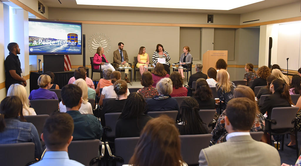 "USIP's 2017 Peace Teachers present their reflections, guidance, and impact at the public event ""A Year in the Life of a Peace Teacher: Stories from the American Classroom"" at USIP's headquarters in Washington, D.C."
