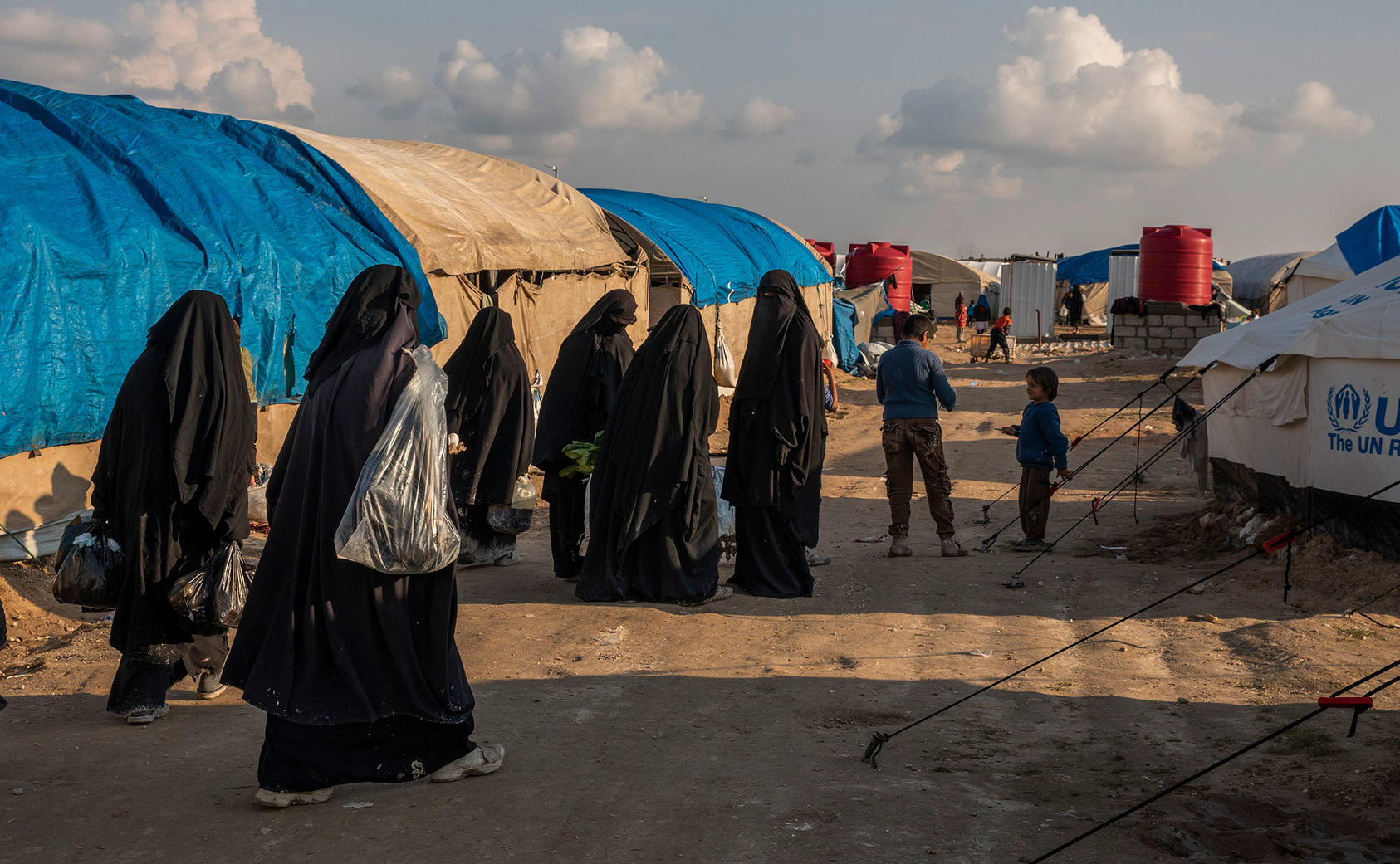 Kurdish-controlled al-Hol camp in northern Syria, March 28, 2019. (Ivor Prickett/The New York Times)