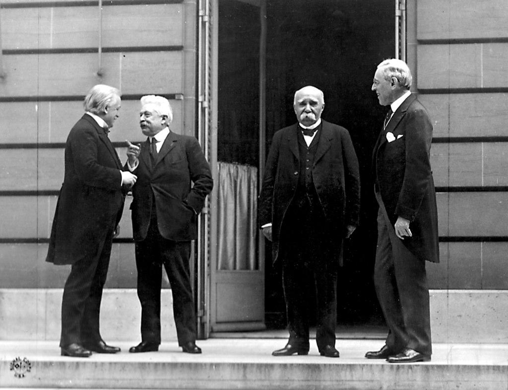 "Leaders of the so-called ""Big Four"" nations at the Paris peace conference leading to the Versailles Treaty. (Nathan Hughes Hamilton/Flickr)"