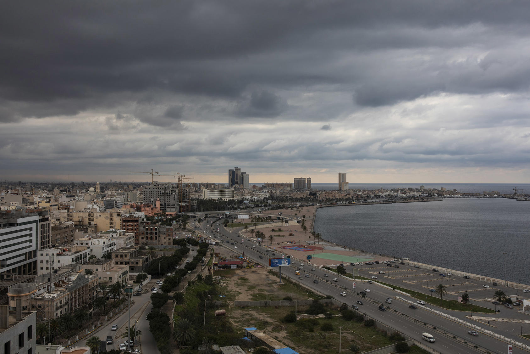 Tripoli, Libya on Thursday, Jan. 16, 2020, where residents hold out little hope that a conference aimed at arresting Libya's degeneration into a multinational free-for-all will succeed. (Ivor Prickett/The New York Times)