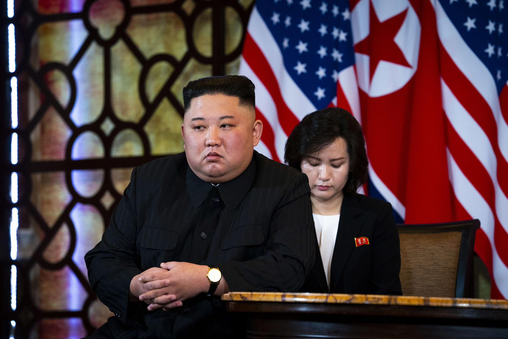 North Korean leader Kim Jong-un during a meeting with President Donald Trump in Hanoi, Vietnam, Feb. 28, 2019 (Doug Mills/The New York Times)