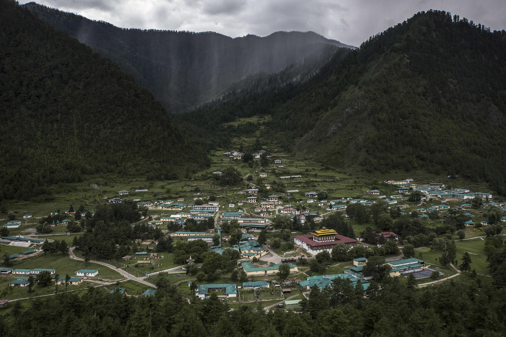 A regional headquarters for India's military in Haa, Bhutan, near a border area claimed by both India and China, Aug. 3, 2017. (Gilles Sabrie/The New York Times)