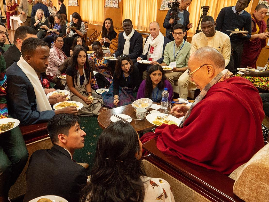 Youth Leaders with His Holiness the Dalai Lama