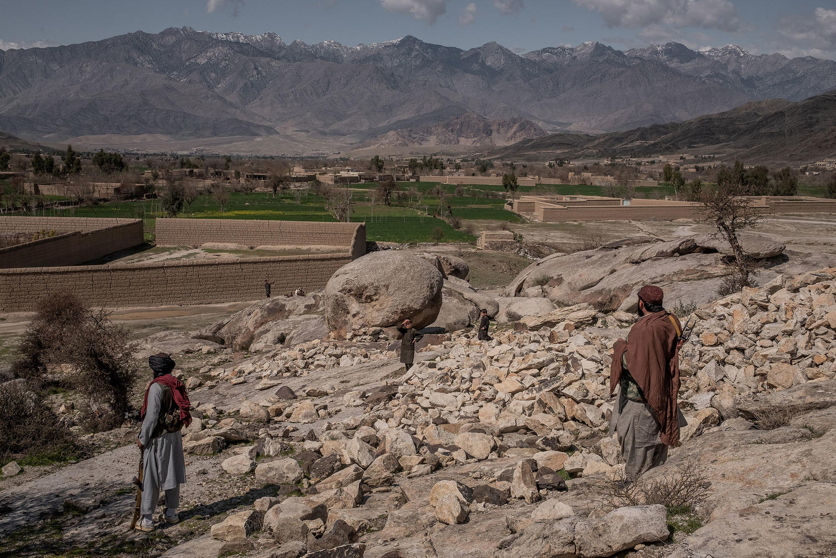 Taliban fighters in Laghman, Afghanistan, March 13, 2020. (Jim Huylebroek/The New York Times)