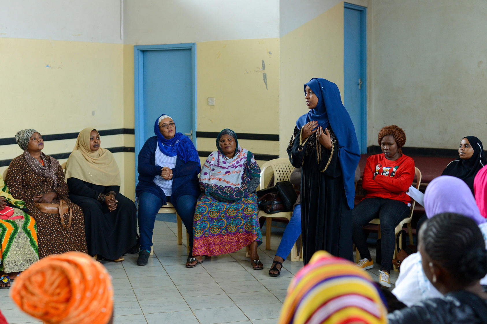 A dialogue on preventing extremism in the Eastleigh community of Nairobi, Kenya, organized by the Sisters Without Borders (SWB) network.