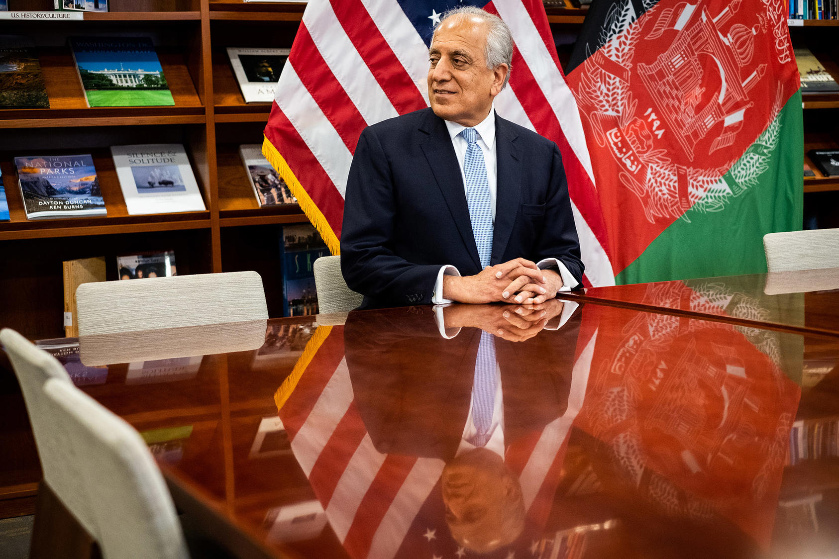 Zalmay Khalilzad at the United States Embassy in Kabul, Afghanistan on Jan. 28, 2018. (Jim Huylebroek/The New York Times)
