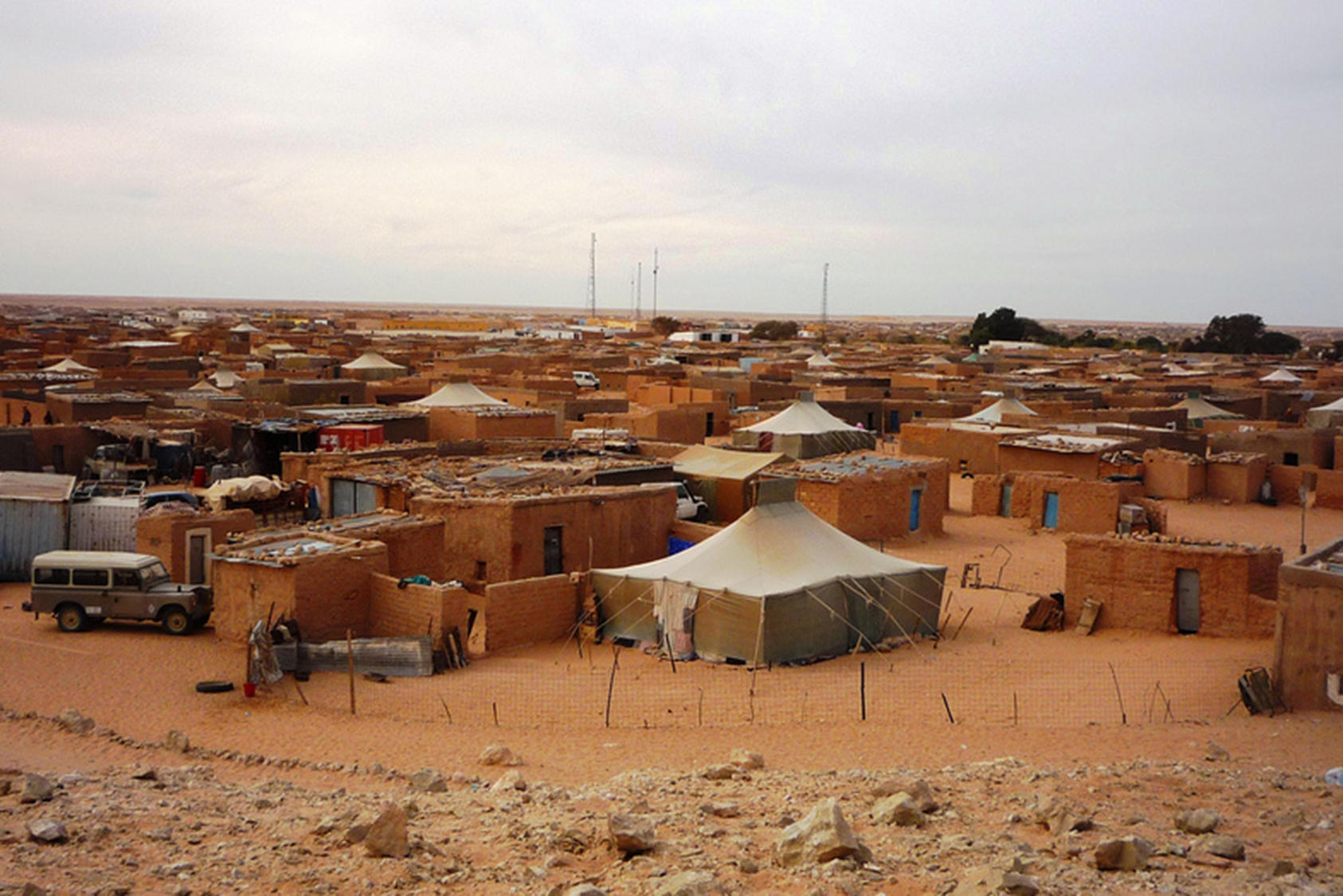 Tens of thousands of Sahrawis, uprooted by the 50-year-old conflict over the Western Sahara, have lived for decades in camps in southern Algeria. (European Union/CC License 2.0)