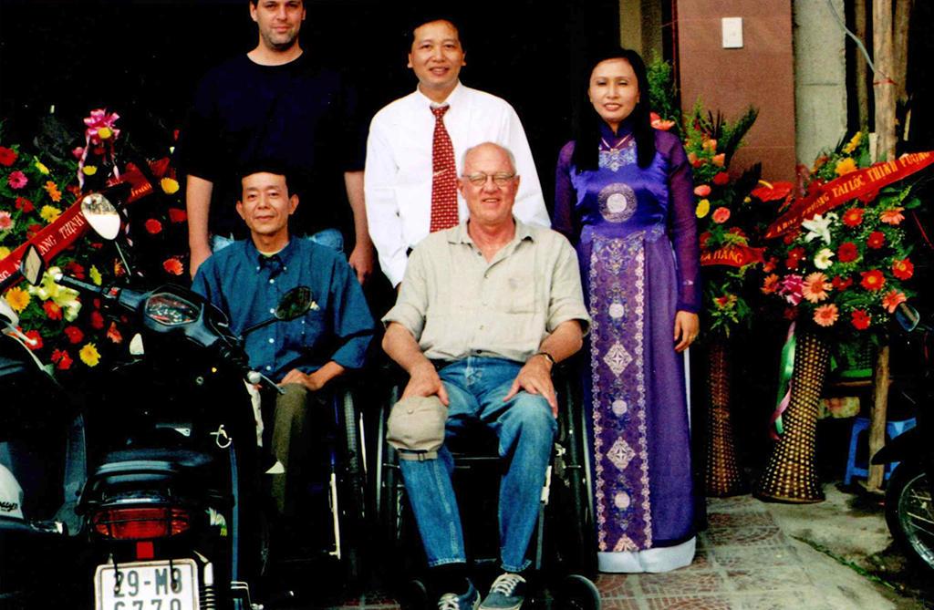 John Lancaster with Manh Tuan