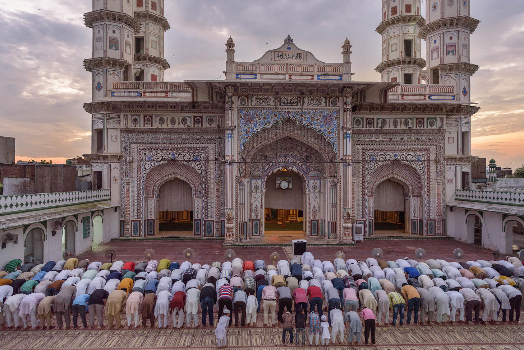 Muslims pray at a mosque in Tonk, India, on Sept. 28, 2019. (Smita Sharma/The New York Times)