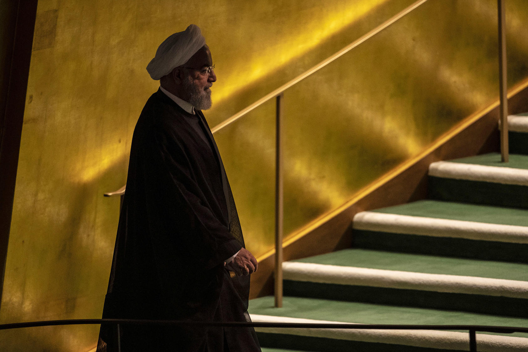 President Hassan Rouhani of Iran has a vested interest in reviving diplomacy but has limited time to engage the Biden administration with elections in Iran slated for June. (Brittainy Newman/The New York Times)
