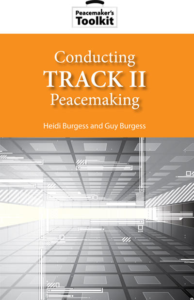 Conducting Track II Peace Making Book Cover