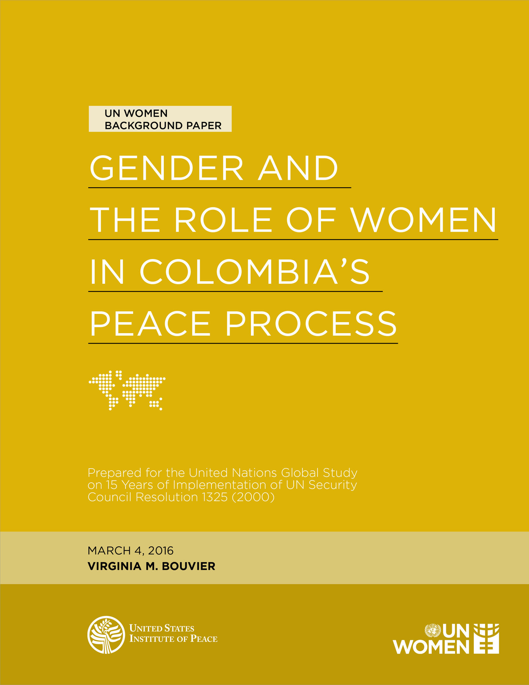 gender and the role of women in colombia s peace process united