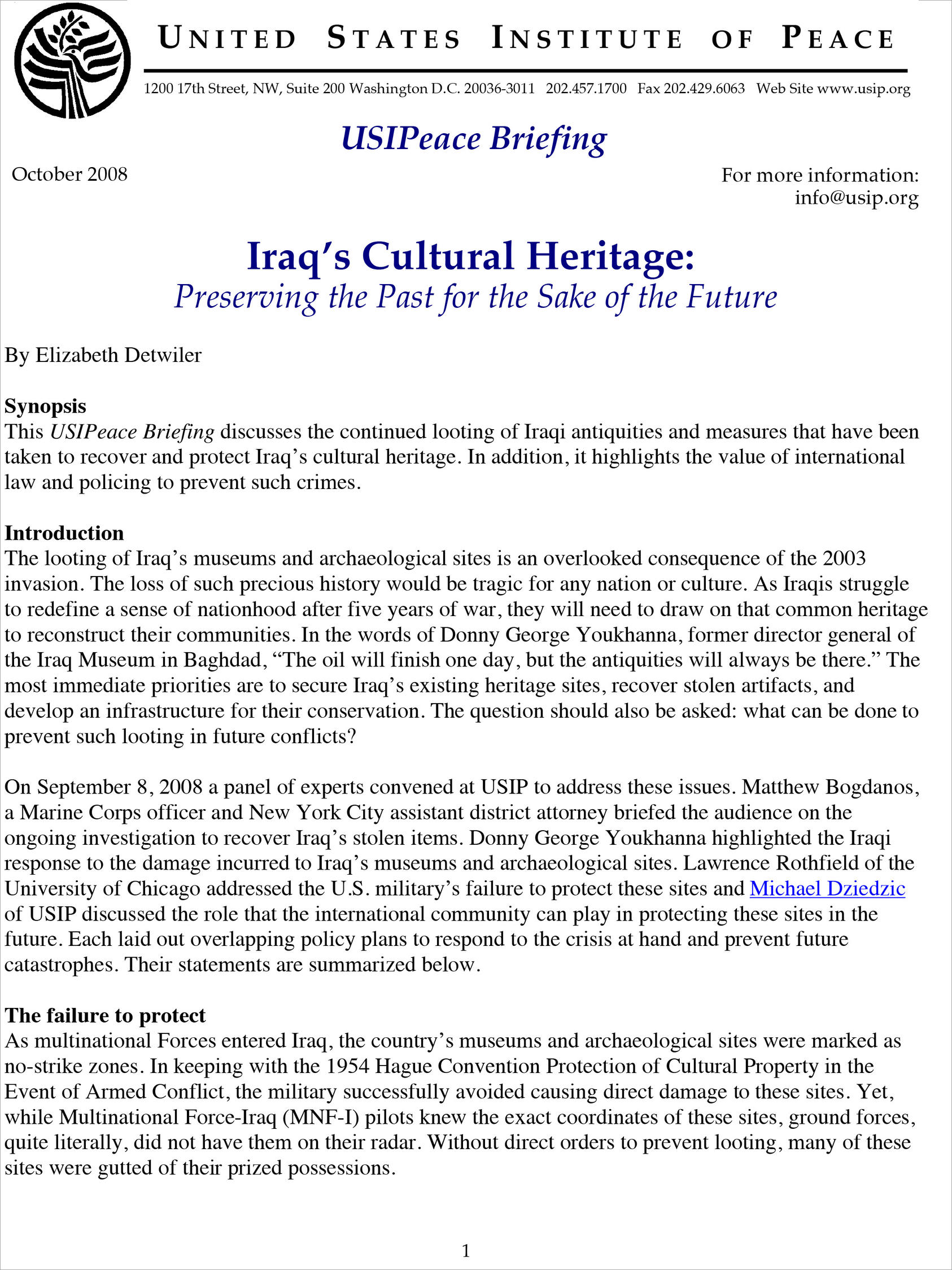 As Iraqis Struggle To Redefine A Sense Of Nationhood After Five Years War They Will Need Draw On That Common Heritage Reconstruct Their