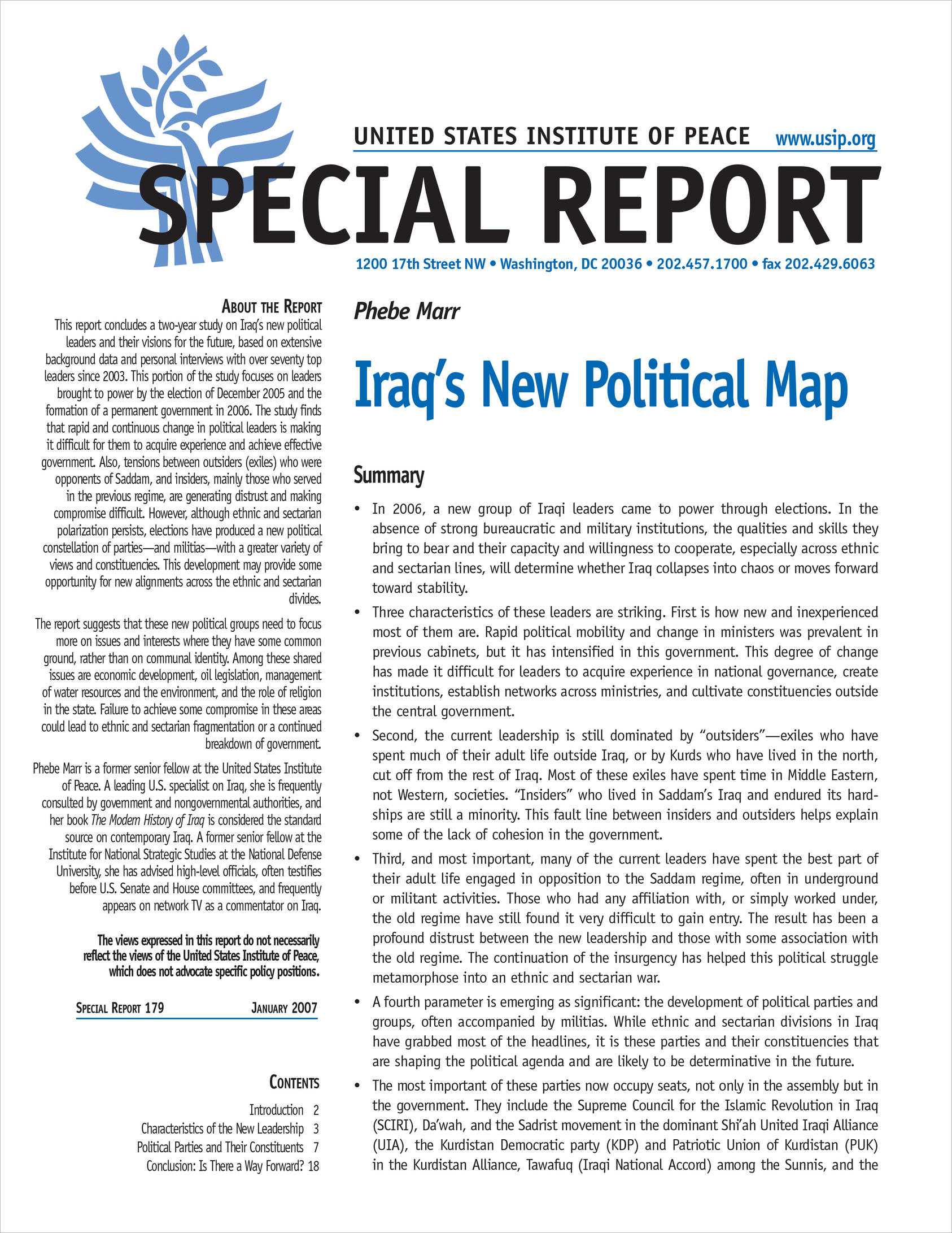 Iraq's New Political Map | United States Institute of Peace