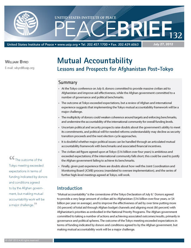 Peace Brief: Mutual Accountability