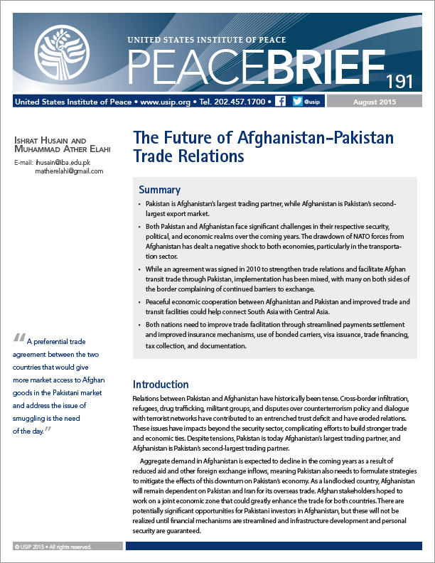 The Future Of Afghanistan Pakistan Trade Relations