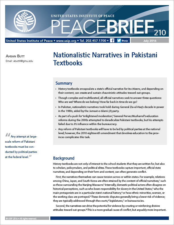 The construction of history and nationalism in India : textbooks, controversies and politics