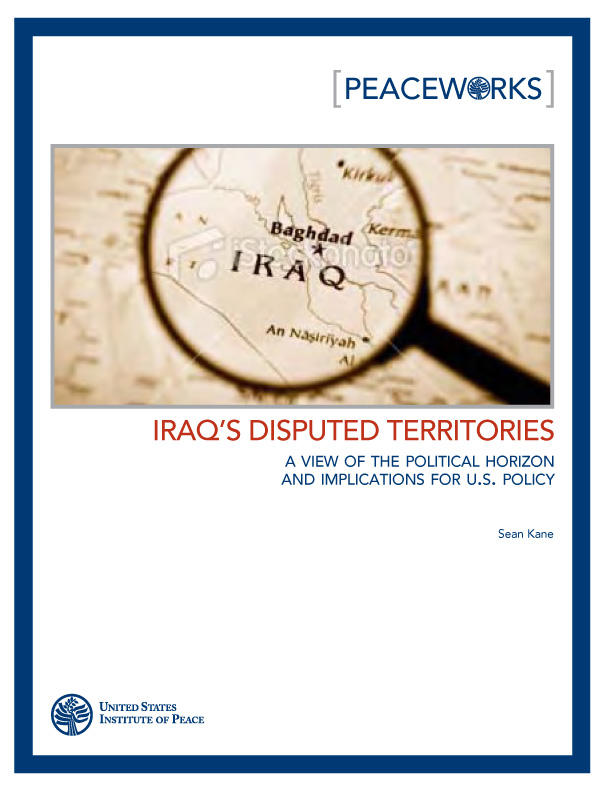 Iraqs Disputed Territories United States Institute Of Peace