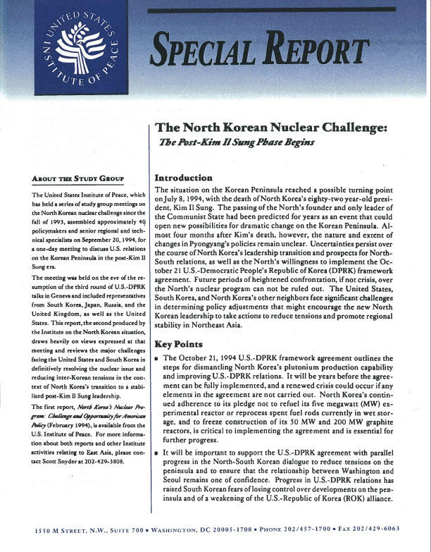The North Korean Nuclear Challenge: The Post–Kim Il Sung