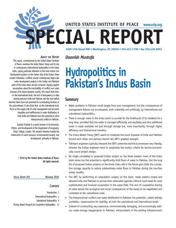 indus water treaty summary