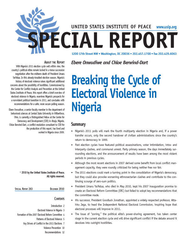 Special Report: Breaking the Cycle of Electoral Violence in Nigeria