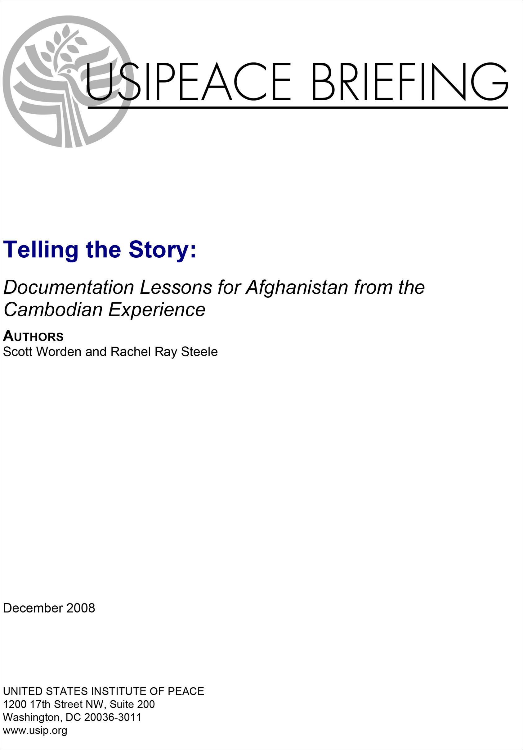 telling the story documentation lessons for from the synopsis