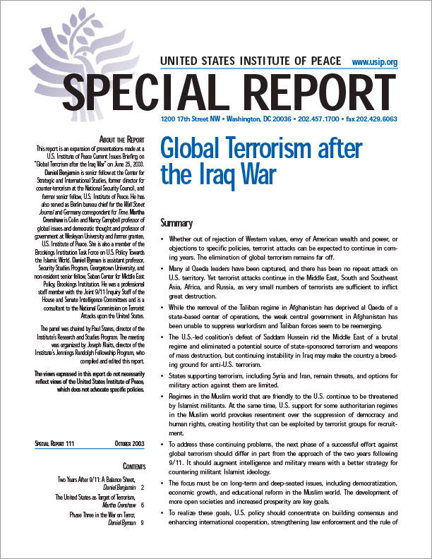 paragraph on global terrorism