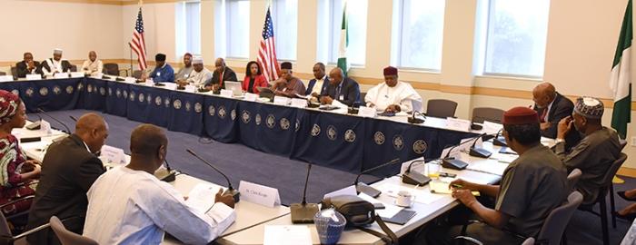 Nigerian governors sitting around table