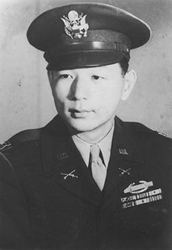 Army Lt. Spark Matsunaga during World War II