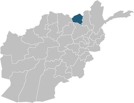 Map of Afghanistan Kunduz Province