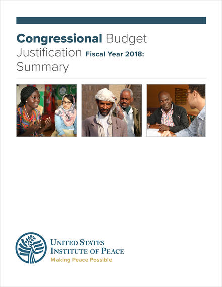FY 2019 Budget Request Summary Cover